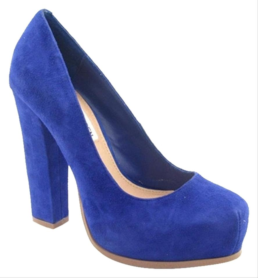 Steve Madden Sarrina Platform Electric Blue Pumps on Sale, 47% Off ...