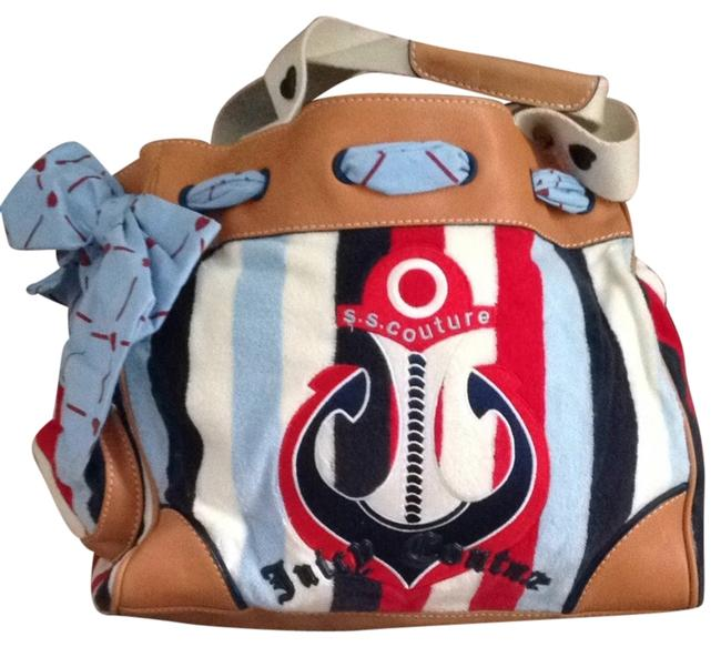 Item - Daydreamer Red/White/Blue/Tan Tote