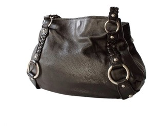 Banana Republic Harness Pebbled Leather Hobo Bag