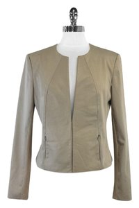 Iris Setlakwe Beige Cotton Leather Leather Jacket