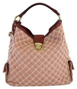 Marc Jacobs Red Cream Quilted Shoulder Bag