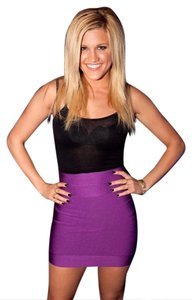 Herv Leger Club Skirt Purple/Magenta