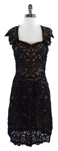 Yoana Baraschi short dress Black Nude Lace Overlay on Tradesy