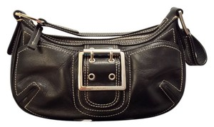 BCBGeneration Bcbg Leather Silver Hardware Baguette