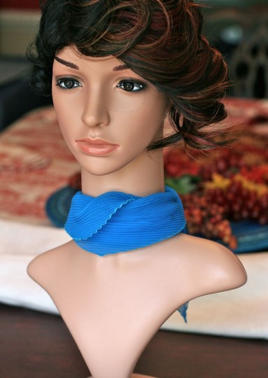 Private Collection Turquoise Pleated Scarf