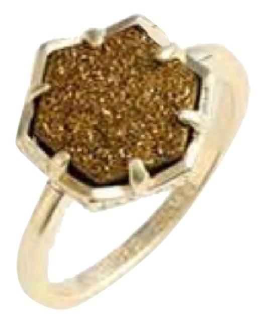 Item - Bronze / Gold Drusy Ring