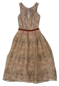 Tracy Reese short dress Beige Mauve Tone Floral on Tradesy