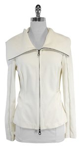 L.A.M.B. Cream Gathered Zip Jacket