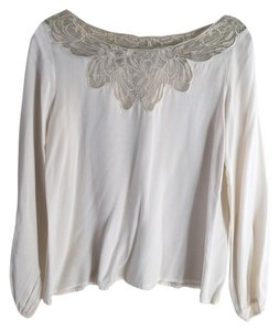Ya Clothing Ya Lace Long Sleeve Soft Top Ivory