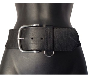 BCBGeneration WIDE WAIST BLACK BUCKLE BELT SIZE LARGE L