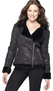 alpine swiss Alpine Swiss Faux Shearling Eva Womens Motorcycle Jacket Asymmetrical Racer Coat