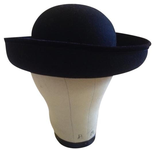 Other Vintage 80s Bowler Black Wool Hat