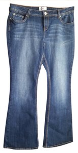 So Wear It Declare It Flare Leg Jeans-Dark Rinse