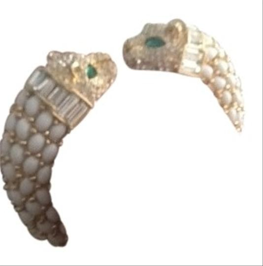 Preload https://item4.tradesy.com/images/angelique-de-paris-ivory-and-green-panther-cuff-bracelet-95003-0-0.jpg?width=440&height=440
