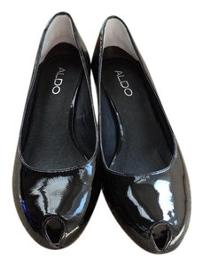 ALDO Patent Leather Kitten Heels Black Pumps