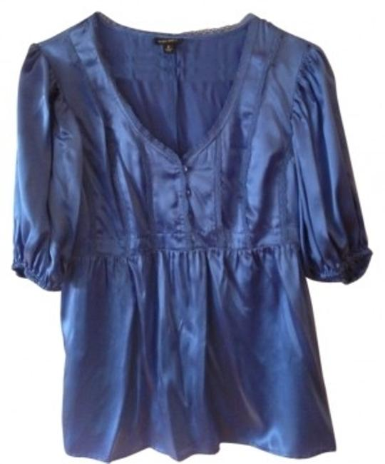 Preload https://item2.tradesy.com/images/nine-west-blue-satin-blouse-size-4-s-9501-0-0.jpg?width=400&height=650