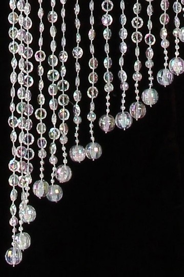 Clear Lot Of 2 Spiral Crystal Chandeliers 4 Ft. Reception Decorations