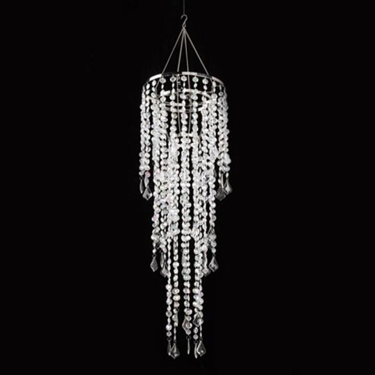 Clear Lot Of Crystal Chandeliers Event Decor Reception Decorations