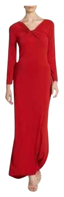 Preload https://img-static.tradesy.com/item/950223/armani-collezioni-red-knotted-neck-long-formal-dress-size-6-s-0-5-650-650.jpg