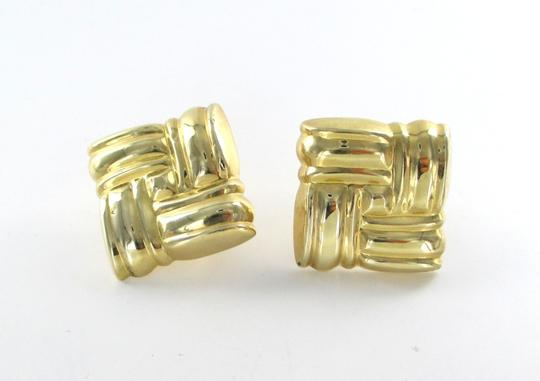 Other 14KT YELLOW GOLD SQUARE RHOMBUS EARRINGS