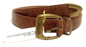 BCBGeneration BROWN SNAKE VEGAN LEATHER GOLD BRONZE BUCKLE BELT SIZE MEDIUM M