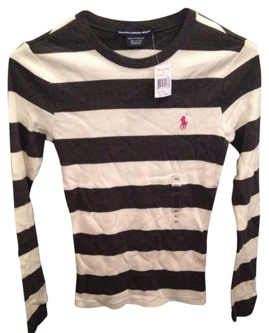 Preload https://img-static.tradesy.com/item/950863/ralph-lauren-longsleeve-shirt-xs-new-with-tag-gray-and-off-white-sweater-0-0-650-650.jpg