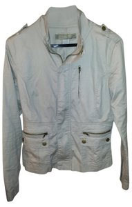 Angel Kim light beige Womens Jean Jacket
