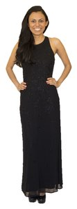 Parta Beaded Mesh Full Length Evening Gown Dress