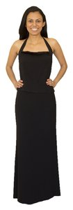 Tahari Rayon Jersey Mink Evening Dress