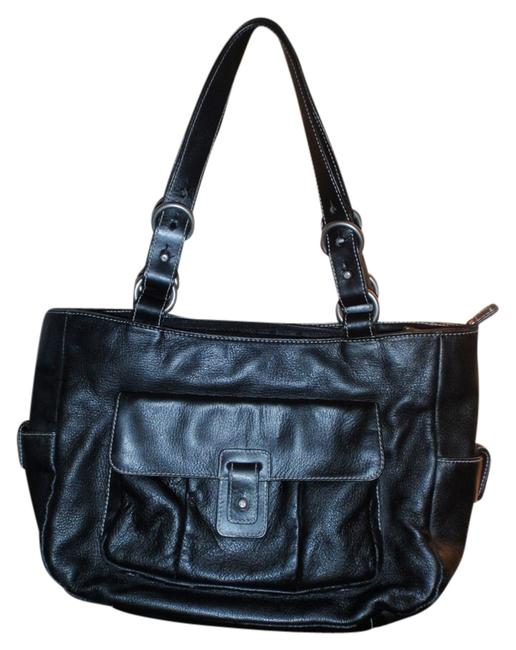 Ralph Lauren By Black Leather Shoulder Bag Ralph Lauren By Black Leather Shoulder Bag Image 1