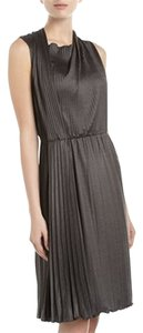 Moschino short dress Charcoal Satin-jersey Pleated Draped Cheap And Chic Grey on Tradesy