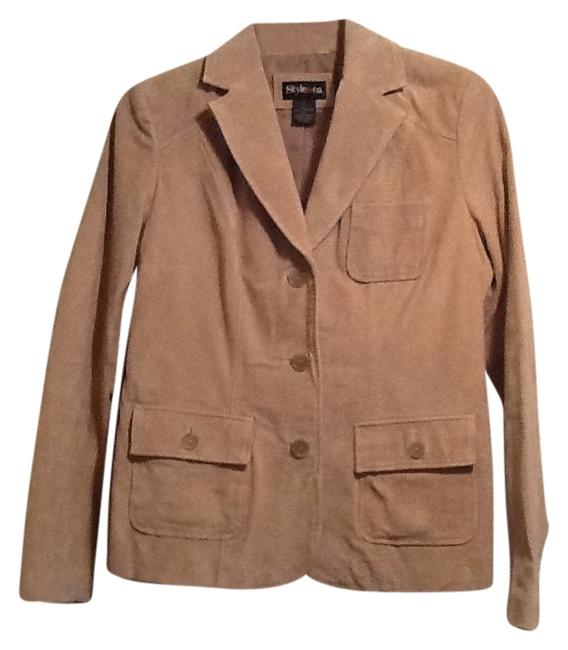 Style & Co Tan Leather Jacket