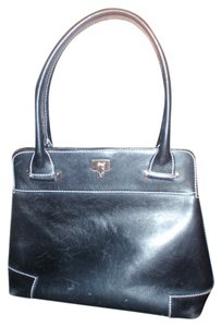Lambertson Truex Made in Italy Handbag Satchels Black Clutch