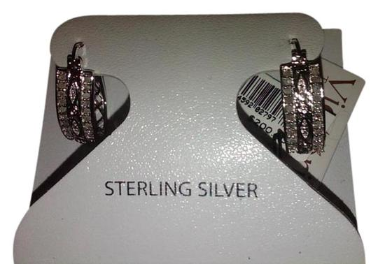 Preload https://img-static.tradesy.com/item/951688/victoria-townsend-silver-for-macy-s-clear-diamond-stone-silver-tone-oval-hoop-earrings-0-0-540-540.jpg