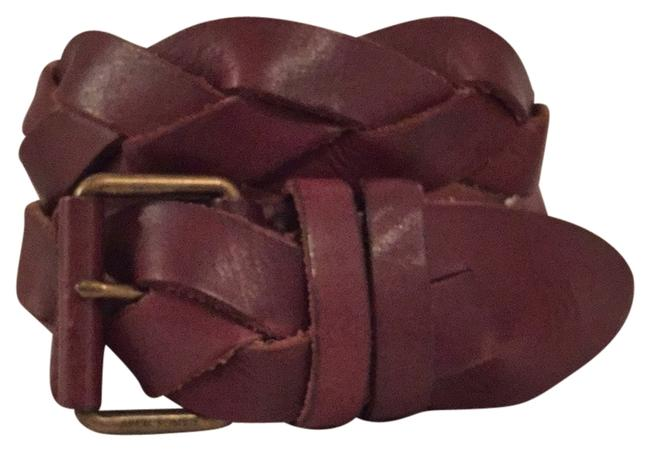 Item - Brown Braided Distressed Leather Belt