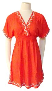 display short dress Orange Red on Tradesy