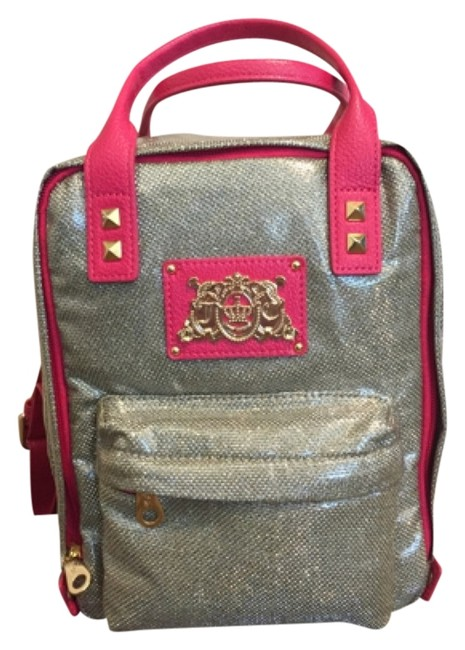 Item - Silver with Pink Lining Backpack