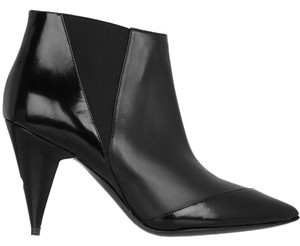 Pierre Hardy Heel Measures Approximately 90mm/ 3.5 Inches Handmade Matte-leather Polished-leather Panels Elasticated Side Panels Toe Black Boots