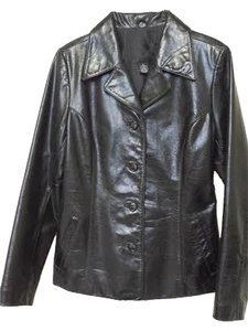 Arden B. Geniune Fitted Leather Winter black Leather Jacket