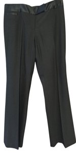 Ann Taylor Polyester Wool Spandex Satin Straight Pants Black