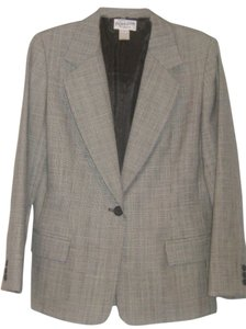 Pendleton Pendelton Blazer Sz 14P Black White Plaid Wool Gabardine