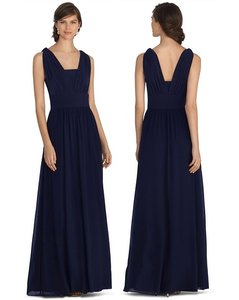 White House | Black Market Navy Blue Genius Chiffon Convertible Navy Gown Dress