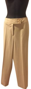 Josephine Chaus Polyester Rayon Spandex Straight Pants Cream