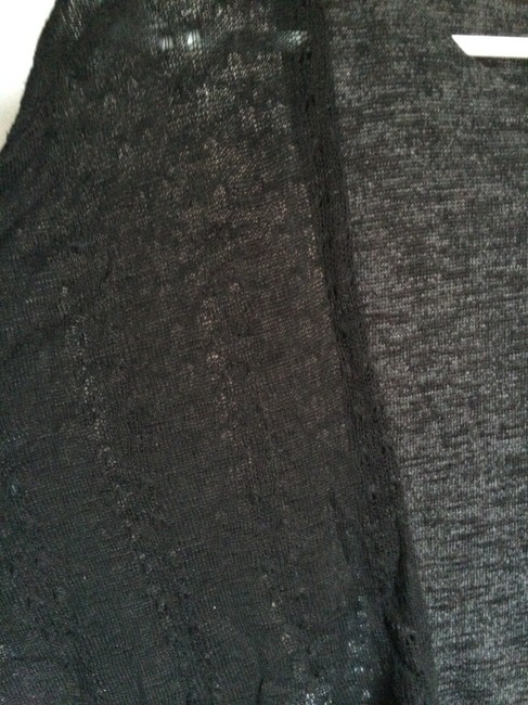 Green Envelope Crop Sheer Going Out Three Quarter Cropped Top Black and dark grey