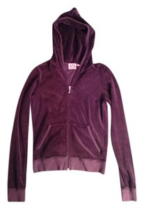 Juicy Couture Casual Zip-up Comfy Velour Sweatshirt