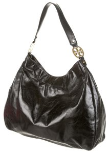 Tory Burch Textured Patent Hobo Bag