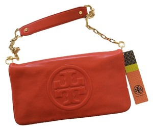 Tory Burch Leather Tory Red Clutch