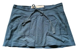 Abercrombie & Fitch Summer Cotton Casual Mini Skirt Blue