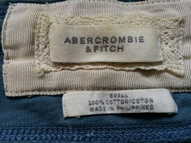 Abercrombie & Fitch Summer Casual Tie Waist Adjustable Mini Skirt Blue