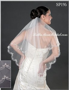 Giselle Two-tier Bridal Veil Sp195